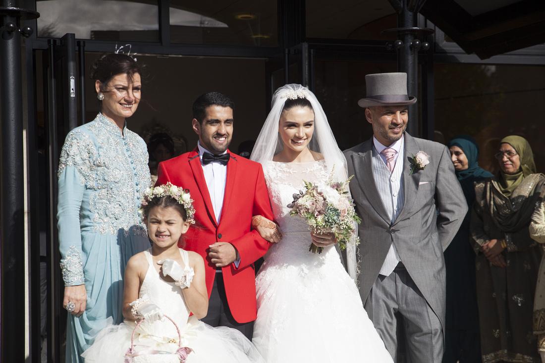 the family at the muslim wedding in preston lancashire