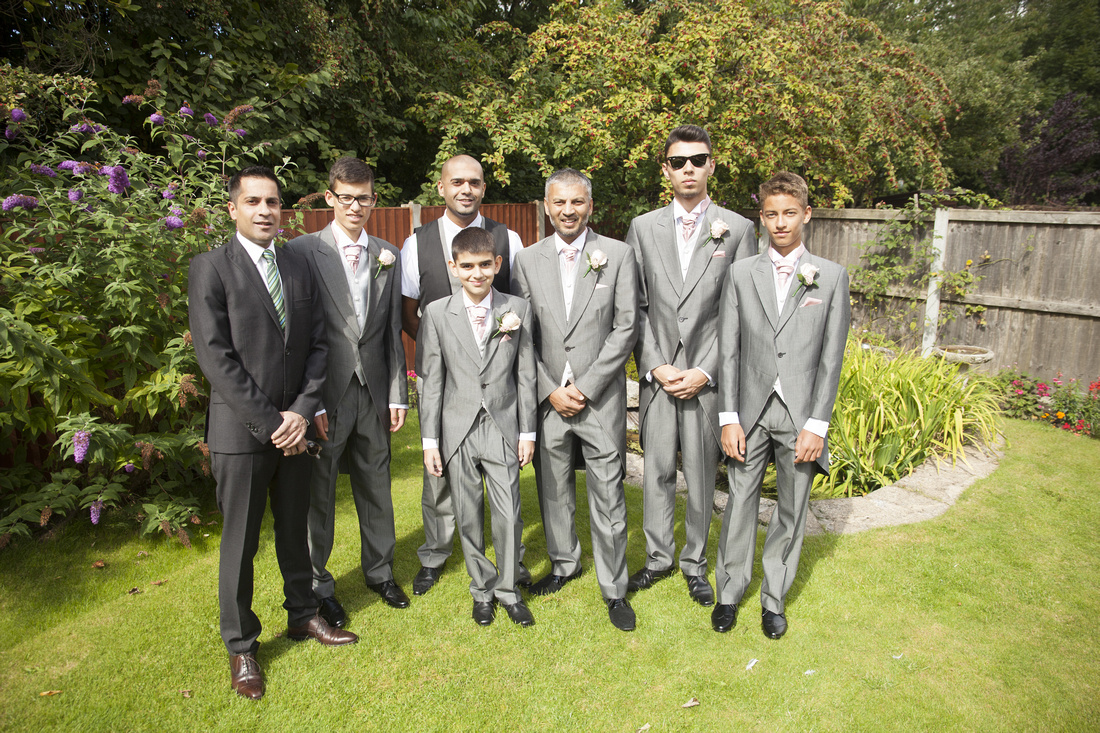 best men and grooms men at a muslim wedding